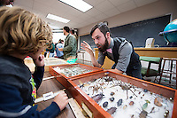 Science Night (Darwin Week): children look at entomology exhibits.<br />  (photo by Megan Bean / &copy; Mississippi State University)