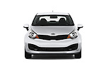 Car photography straight front view of a 2015 KIA Rio LX AT 4 Door Sedan 2WD Front View