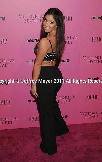 "LOS ANGELES, CA - MAY 12: Melissa Molinaro arrives to the Victoria's Secret 6th Annual ""What Is Sexy? List: Bombshell Summer Edition"" Pink Carpet Event at The Beverly on May 12, 2011 in Los Angeles, California."