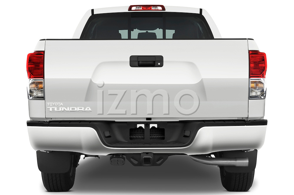 Straight rear view of a 2010 Toyota Tundra Double Cab 2WD