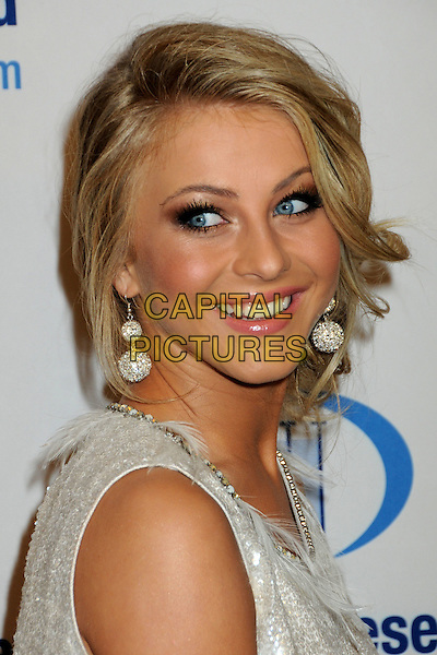 JULIANNE HOUGH.EIF's Women's Cancer Research Fund Benefit held at the Beverly Wilshire Hotel, Beverly Hills, California, USA..January 27th, 2010.headshot portrait earrings make-up beauty mascara gold white silver sleeveless .CAP/ADM/BP.©Byron Purvis/AdMedia/Capital Pictures.