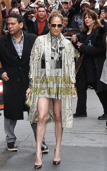 NEW YORK, NY - MARCH 1: Jennifer Lopez spotted leaving 'The View' where she promoted the new season of the television series 'Shades of Blue'  in New York, New York on March 1, 2017.  <br /> CAP/MPI/RMP<br /> &copy;RMP/MPI/Capital Pictures