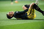 Lucas Hernandez of Atletico de Madrid lies on pitch injured during their 2016-17 UEFA Champions League Semifinals 1st leg match between Real Madrid and Atletico de Madrid at the Estadio Santiago Bernabeu on 02 May 2017 in Madrid, Spain. Photo by Diego Gonzalez Souto / Power Sport Images