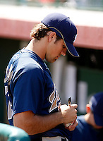 Mitch Canham - San Diego Padres - 2009 spring training.Photo by:  Bill Mitchell/Four Seam Images