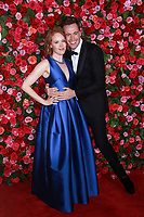 NEW YORK, NY - JUNE 10:  Jessica Lynn and Erich Bergen   at the 72nd Annual Tony Awards at Radio City Music Hall in New York City on June 10, 2018.