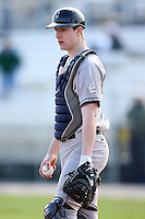 February 20, 2009:  Catcher John Sulzicki (27) of the University of Connecticut during the Big East-Big Ten Challenge at Jack Russell Stadium in Clearwater, FL.  Photo by:  Mike Janes/Four Seam Images