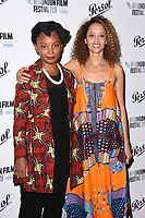 Rungano Nyoni and Gloria Huwiler<br /> arriving for the London Film Festival Awards, Vue Leicester Square, London<br /> <br /> ©Ash Knotek  D3452  20/10/2018