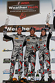 #86 Michael Shank Racing with Curb-Agajanian Acura NSX, GTD: Katherine Legge, Alvaro Parente, Trent Hindman, podium