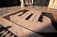 Dom Santa Maria Assunta, Portal und Mosaik, Siena, Toskana, Italien, Unesco-Weltkulturerbe