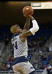 Nevada forward Jordan Caroline shoots against Little Rock in the second half of an NCAA college basketball game in Reno, Nev., Friday, Nov. 16, 2018. (AP Photo/Tom R. Smedes)