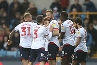 Bolton Wanderers' Mark Beevers celebrates scoring his side's first goal <br /> <br /> Photographer Rob Newell/CameraSport<br /> <br /> The EFL Sky Bet Championship - Millwall v Bolton Wanderers - Saturday 24th November 2018 - The Den - London<br /> <br /> World Copyright &copy; 2018 CameraSport. All rights reserved. 43 Linden Ave. Countesthorpe. Leicester. England. LE8 5PG - Tel: +44 (0) 116 277 4147 - admin@camerasport.com - www.camerasport.com