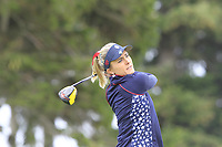Lexi Thompson (USA) on the 2nd tee during Day 3 Singles at the Solheim Cup 2019, Gleneagles Golf CLub, Auchterarder, Perthshire, Scotland. 15/09/2019.<br /> Picture Thos Caffrey / Golffile.ie<br /> <br /> All photo usage must carry mandatory copyright credit (© Golffile | Thos Caffrey)