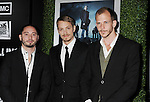HOLLYWOOD, CA - MARCH 26: Matias Varela, Joel Kinnaman and Gustav Skarsgard, arrive at AMC's 'The Killing' Season 2 Los Angeles Premiere at the ArcLight Cinemas on March 26, 2012 in Hollywood, California.