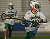 Matt Olbeter #13 of Farmingdale moves the ball from behind the net during the Nassau County varsity boys lacrosse Class A semifinals against Syosset at Shuart Stadium, located on the campus of Hofstra University in Hempstead, on Friday, May 25, 2018. Syosset won by a score of 9-4.