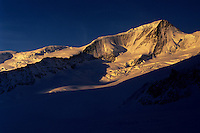 Gross Wannenhorn (3906m) at sunrise, Berner Oberland, Switzerland, 1997