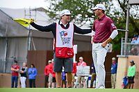 Ryan Palmer (USA) talks with his caddie following round 3 of the Valero Texas Open, AT&amp;T Oaks Course, TPC San Antonio, San Antonio, Texas, USA. 4/22/2017.<br /> Picture: Golffile | Ken Murray<br /> <br /> <br /> All photo usage must carry mandatory copyright credit (&copy; Golffile | Ken Murray)