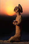 Human form statuette, artifact; Oxus Civilization; Turkmenistan; Gonor Depe site; Victor Sarianidi; Archaeology; BMAC complex