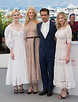 Elle Fanning, Nicole Kidman, Colin Farrell &amp; Kirsten Dunst at the photocall for &quot;The Beguiled&quot; at the 70th Festival de Cannes, Cannes, France. 24 May 2017<br /> Picture: Paul Smith/Featureflash/SilverHub 0208 004 5359 sales@silverhubmedia.com