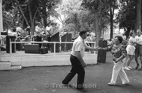 Dancing at 34th annual Salmon Supper at Memorial Park.<br />