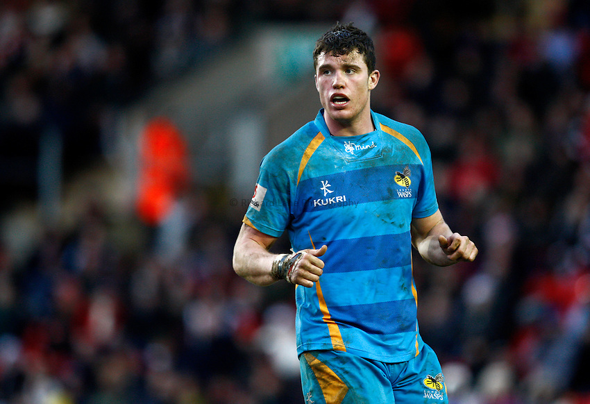 Photo: Richard Lane/Richard Lane Photography. Leicester Tigers v London Wasps. LV= Cup. 26/01/2013. Wasps' Will Rowlands.