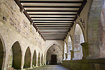 Cloister, Real Colegiata de Santa Maria Church, Roncesvalles, Navarra, Spain