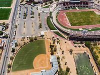 Vista aerea de Complejo deportivo de la Comisión Estatal de Deporte, CODESON en Hermosillo, Sonora....<br /> Estadio Héroe de Nacozari. <br /> Estadio de béisbol Estadio Fernando M. Ortiz<br /> Campo De Tiro Con Arco..<br /> Boulevard o calle Periferico Norte<br /> Pasto Sintetico. <br /> <br /> Photo: (NortePhoto / LuisGutierrez)<br /> <br /> ...<br /> keywords: