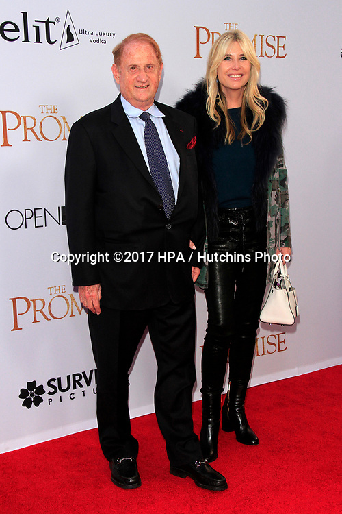 """LOS ANGELES - APR 12:  Mike Medavoy, Irena Medavoy at the """"The Promise"""" Premiere at the TCL Chinese Theater IMAX on April 12, 2017 in Los Angeles, CA"""