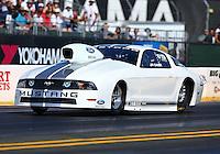 Jul. 26, 2013; Sonoma, CA, USA: NHRA pro stock driver J.R. Carr during qualifying for the Sonoma Nationals at Sonoma Raceway. Mandatory Credit: Mark J. Rebilas-