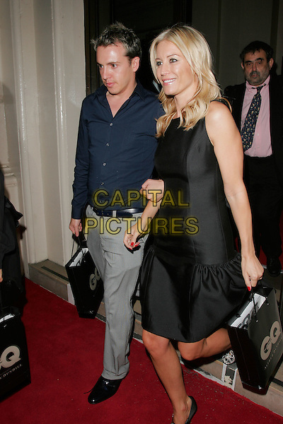 DENISE VAN OUTEN & GUEST.Leaving the GQ Men of the Year Awards at the Royal Opera House, Covent Garden, London, England..September 2nd 2008.departures full length black dress sleeveless .CAP/AH.©Adam Houghton/Capital Pictures.