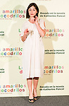 """Hotel Santo Mauro. Madrid. Spain. 30/04/2014. Presentation of the movie """" Los ojos amarillos de los cocodrilos"""".<br /> Emmanuelle Béart."""