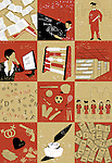 Collage of lifecycle of a person education