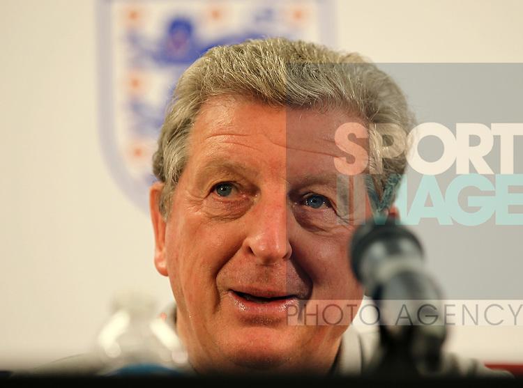 England's Roy Hodgson during his press conference<br /> <br /> England Training &amp; Press Conference  - Barry University - Miami - USA - 06/06/2014  - Pic David Klein/Sportimage