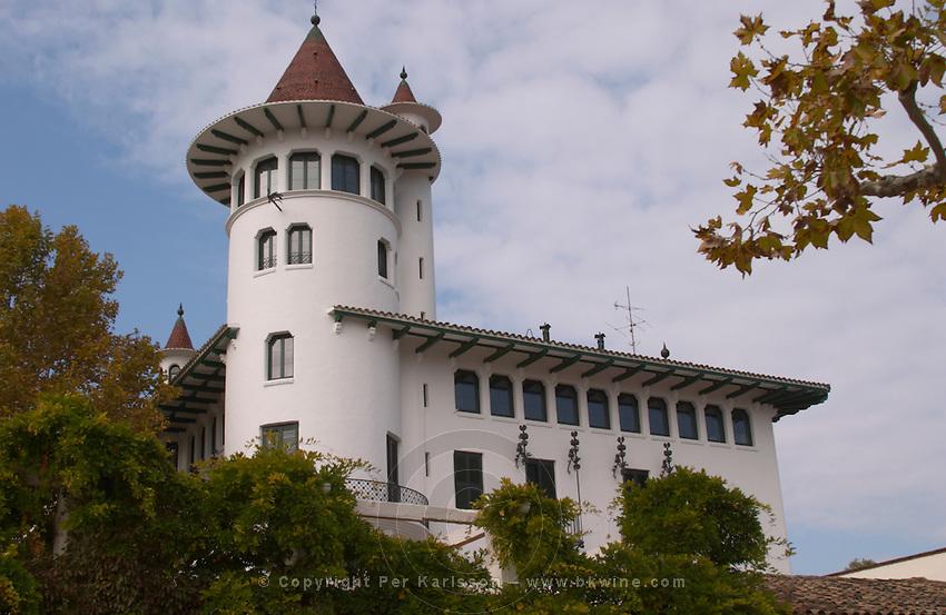 Main building in Catalan style. Codorniu, Sant Sadurni d'Anoia, Penedes, Catalonia, Spain