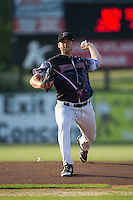 Kannapolis Intimidators starting pitcher Johnathan Frebis (26) in action against the Delmarva Shorebirds at Kannapolis Intimidators Stadium on June 25, 2016 in Kannapolis, North Carolina.  The Intimidators defeated the Shorebirds 2-1.  (Brian Westerholt/Four Seam Images)