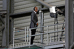 Sky Television commentator Matt Murray looks on from an elevated gantry during the Barclays Premier League match at The Hawthorns.  Photo credit should read: Malcolm Couzens/Sportimage