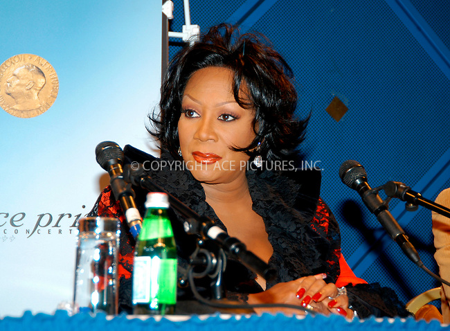 WWW.ACEPIXS.COM . . . . .  ... . . . . US SALES ONLY . . . . ...Oslo, Norway, December 11, 2004: Patti LaBelle at a Nobel Peace Prize Concert press conference. Please byline: M. Delucci - FAMOUS - ACE PICTURES.... . . . .  ....Ace Pictures, Inc:  ..Alecsey Boldeskul (646) 267-6913 ..Philip Vaughan (646) 769-0430..e-mail: info@acepixs.com..web: http://www.acepixs.com