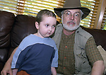 "A 'selfie"" posing with Bradley Gefter age 4 recovering from brain surgery at his Plainview home. (Photo by Jim Peppler taken friday July 12, 2002)."