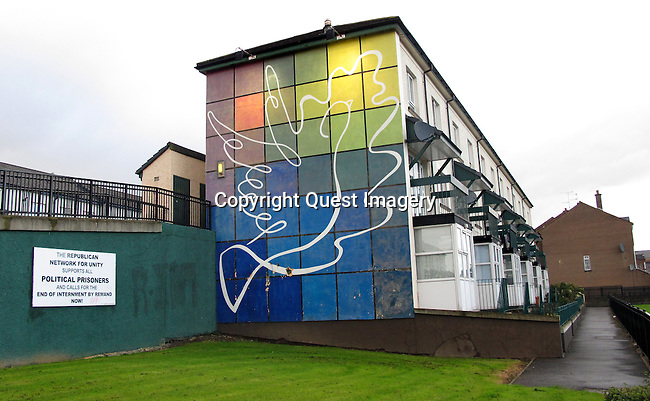 &quot;Peace&quot; mural in the Bogside, a neighborhood outside the city walls of Derry, Northern Ireland.<br />