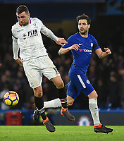 Cesc F‡bregas of Chelsea and James McArthur of Palace <br /> Londra 10-03-2018 Premier League <br /> Chelsea - Crystal Palace<br /> Foto PHC Images / Panoramic / Insidefoto <br /> ITALY ONLY