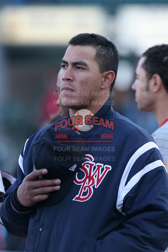 Scranton Wilkes-Barre Red Barons Angel Chavez during an International League game at Frontier Field on May 19, 2006 in Rochester, New York.  (Mike Janes/Four Seam Images)