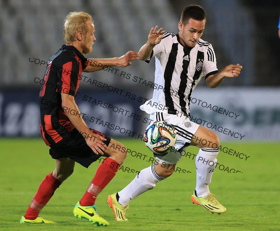 Fudbal Football Soccer<br /> UEFA Champions league-2nd qualifying round<br /> Partizan v HB Torshavn (Faroe Islands)<br /> Andrija Zivkovic (R)<br /> Beograd, 07.15.2014.<br /> foto: Srdjan Stevanovic/Starsportphoto &copy;