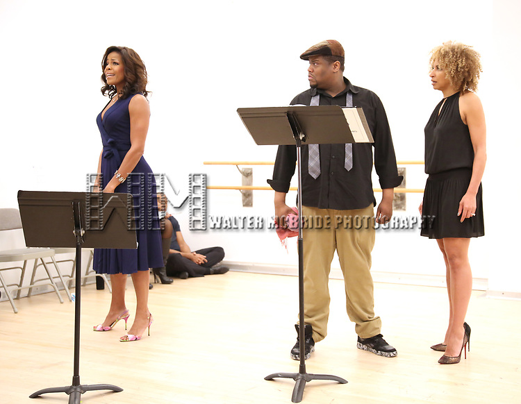 "Nicole Henry, Juson Williams  and Lana Gordon During the Open Rehearsal for the Miami New Drama's World Premiere Musical  ""A Wonderful World"" at the Ripley-Grier Studios on January 26, 2020 in New York City."