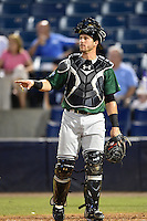 Daytona Tortugas catcher Cam Maron (7) during a game against the Tampa Yankees on April 24, 2015 at George M. Steinbrenner Field in Tampa, Florida.  Tampa defeated Daytona 12-7.  (Mike Janes/Four Seam Images)