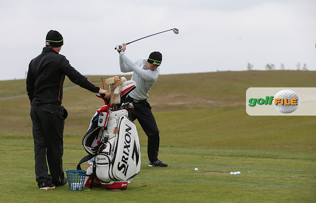 Tom Murray (ENG) on the range during practice day ahead of the 2015 Nordea Masters at the PGA Sweden National, near Malmo, Sweden. 02/06/2015. Picture David Lloyd | www.golffile.ie