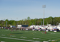 The turf field at Mallard Creek High School was the main venue for the event.
