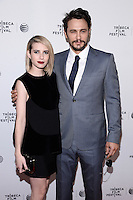 NEW YORK, NY - APRIL 24, 2014: Actress Emma Roberts and James Franco attend the screening Premiere of  Palo Alto during the 2014 Tribeca Film Festival at SVA Theater on April 24, 2014 in New York City  © HP/Starlitepics /NortePhoto