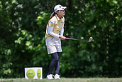 28th May 2017, Ann Arbor, MI, USA;  Sakura Yokomine, of Japan, watches her tee shot on the seventh hole during the final round of the LPGA Volvik Championship on May 28, 2017 at Travis Pointe Country Club in Ann Arbor, Michigan.
