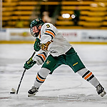 30 November 2018: University of Vermont Catamount Forward Olivia Kilberg, a Sophomore from Edina, MN, takes a shot on goal in second period action against the University of Maine Black Bears at Gutterson Fieldhouse in Burlington, Vermont. The Lady Cats were edged out by the Bears 2-1 in the first game of their 2-game Hockey East series. Mandatory Credit: Ed Wolfstein Photo *** RAW (NEF) Image File Available ***