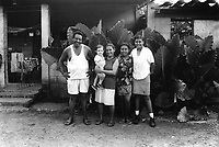 Family from the community of Nueva Esperanza, El Salvador, 1999.