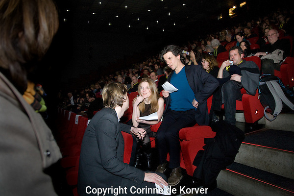 Rotterdam, 30 January 2012 International Film Festival Rotterdam. Shock Head Soul premiere at Pathe. Rutger Wolfson with Femke Wolting and Bruno Felix (Submarine). Photo by Corinne de Korver Copyright and ownership by photographer. FOR IFFR USE ONLY. Not to be (re-)distributed in any form. Copyright and ownership by photographer. FOR IFFR USE ONLY. Not to be (re-)distributed in any form.